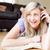 gyönyörű · nő · beszél · telefon · nappali · nő · telefon - stock fotó © wavebreak_media