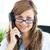 bella · femminile · medico · parlando · telefono · ufficio - foto d'archivio © wavebreak_media