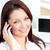 aantrekkelijk · kaukasisch · zakenvrouw · praten · telefoon · glimlachend - stockfoto © wavebreak_media
