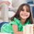cute · meisje · spelen · woonkamer · ouders · familie - stockfoto © wavebreak_media