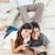 ninos · jugando · padres · hablar · casa · feliz - foto stock © wavebreak_media