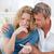 amantes · mirando · prueba · del · embarazo · casa · mujer · feliz - foto stock © wavebreak_media