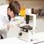 wetenschap · student · naar · microscoop · laboratorium · man - stockfoto © wavebreak_media