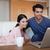 dizüstü · bilgisayar · kullanıyorsanız · kahve · oturma · odası · bilgisayar · sevmek - stok fotoğraf © wavebreak_media