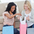 two women are sitting on the floor looking through shopping bags stock photo © wavebreak_media