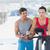 fiatal · fitnessz · nő · oktató · bicikli · tornaterem · férfi - stock fotó © wavebreak_media