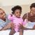 gelukkig · moeder · spelen · baby · vergadering · bed - stockfoto © wavebreak_media