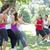 fitnessz · csoport · játszik · háború · napos · idő · nő - stock fotó © wavebreak_media