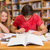 főiskola · diákok · házi · feladat · könyvtár · csoport · lány - stock fotó © wavebreak_media