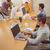 criador · casual · empresária · cadeira · de · rodas · ver · escritório - foto stock © wavebreak_media
