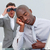 Businessman annoyed by a man looking through binoculars stock photo © wavebreak_media