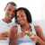 feliz · recém-casados · sorridente · retrato · noiva - foto stock © wavebreak_media