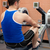 Athletic caucasian man using a rower in a fitness center stock photo © wavebreak_media