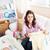 мало · ребенка · спальный · кровать · лице · мальчика - Сток-фото © wavebreak_media