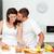 szeretetteljes · férfi · csók · barátnő · vág · kenyér - stock fotó © wavebreak_media