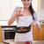 genç · kadın · modern · mutfak · gülen · gıda - stok fotoğraf © wavebreak_media