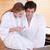 casal · café · da · manhã · mulher · homem · relaxar · casais - foto stock © wavebreak_media