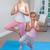 mother and daughter doing yoga stock photo © wavebreak_media