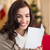 счастливым · женщину · чтение · письме · домой - Сток-фото © wavebreak_media