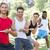 fitnessz · csoport · játszik · háború · napos · idő · férfi - stock fotó © wavebreak_media