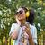 donna · ascoltare · musica · cellulare · ricerca · schermo · prediletto - foto d'archivio © wavebreak_media