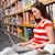 diák · tankönyv · fiatal · figyelmes · női · ül - stock fotó © wavebreak_media