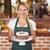 boldog · nő · tart · csokoládés · sütemény · zöld · alma - stock fotó © wavebreak_media