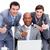 zakenlieden · naar · laptop · witte · toetsenbord - stockfoto © wavebreak_media