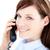 zakenvrouw · praten · telefoon · witte · business - stockfoto © wavebreak_media