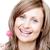 улыбающаяся · женщина · леденец · белый · продовольствие · рот - Сток-фото © wavebreak_media