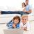 família · feliz · loiro · menino · isolado · branco · família - foto stock © wavebreak_media
