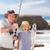 week-end · pêche · photo · grand-père · petit-fils · séance - photo stock © wavebreak_media