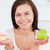 diety · nadwaga · kobiet · wyboru · odizolowany · biały - zdjęcia stock © wavebreak_media