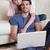 sevimli · çift · dizüstü · bilgisayar · kullanıyorsanız · birlikte · ev · mutfak - stok fotoğraf © wavebreak_media