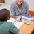 tanár · magyaráz · valami · diák · osztályterem · nő - stock fotó © wavebreak_media