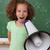 portret · jonge · schoolmeisje · schreeuwen · megafoon · klas - stockfoto © wavebreak_media