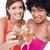 młodych · kobiety · uśmiechnięty · okulary · białe · wino · strony - zdjęcia stock © wavebreak_media