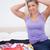 ブロンド · 髪 · フル · スーツケース · ベッド · 女性 - ストックフォト © wavebreak_media