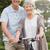 idős · pár · bicikli · park · portré · nő · haj - stock fotó © wavebreak_media
