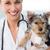 улыбаясь · женщины · ветеринар · Cute · щенков - Сток-фото © wavebreak_media