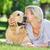 boldog · nő · küldés · csók · kutya · póráz - stock fotó © wavebreak_media