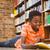 cute · jongen · lezing · boek · bibliotheek · weinig - stockfoto © wavebreak_media