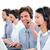 pozitív · üzletemberek · ügyfélszolgálat · beszél · headset · számítógép - stock fotó © wavebreak_media