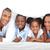 vidám · család · szórakozás · fekszik · ágy · otthon - stock fotó © wavebreak_media