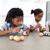 koncentrált · testvérek · festmény · tojások · konyha · gyermek - stock fotó © wavebreak_media