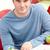 portret · glimlachend · mannelijke · student · werken · bibliotheek - stockfoto © wavebreak_media