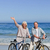 érett · pár · biciklik · tengerpart · tenger · egészség - stock fotó © wavebreak_media