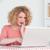 di · bell'aspetto · femminile · rilassante · laptop · seduta - foto d'archivio © wavebreak_media