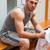 portret · sport · student · handdoek · gebouw · man - stockfoto © wavebreak_media