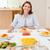 mutlu · aile · oturma · yemek · masası · birlikte · gülümseme · erkek - stok fotoğraf © wavebreak_media